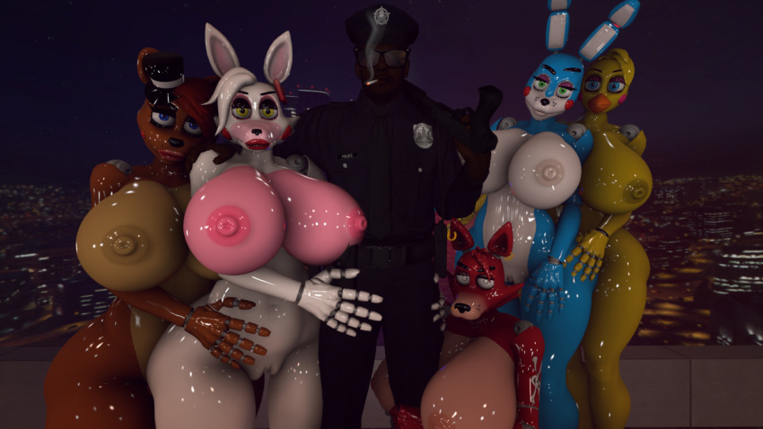 nights at freddy's five human mangle Bike with dildo on it